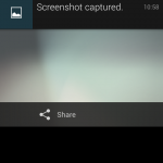 Jelly Bean Screenshot Notification